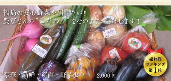 """福島の安心野菜を届けたい!!農家さんの""""こだわり""""をそのままお届けします!!豪華・新鮮・産直・野菜セット"""
