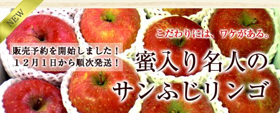 こだわりには、ワケがあります。【期間限定】菱沼農園 蜜入り名人のサンふじリンゴ。