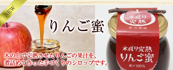 毎年人気!蜜入りんご名人 菱沼さんの琥珀色りんごジュースを贅沢に使用!木の上で完熟させたりんごの果汁を煮詰めて作った手づくりのシロップ【りんご蜜・イブの贅沢】