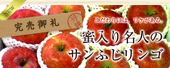 こだわりには、ワケがあります。【完売御礼!】菱沼農園 蜜入り名人のサンふじリンゴ。